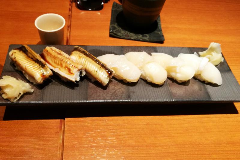 魚菜 基(もとし) 穴子 ホタテ