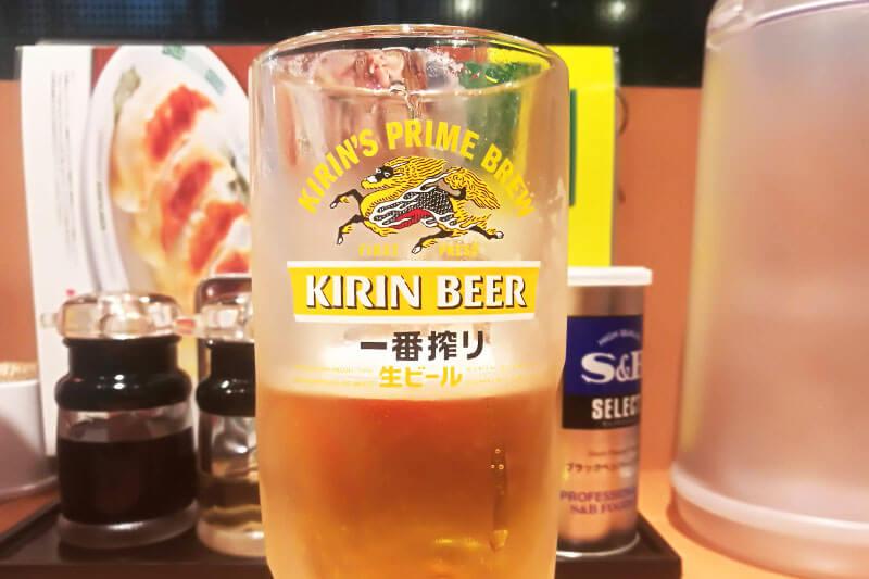日高屋 生ビール