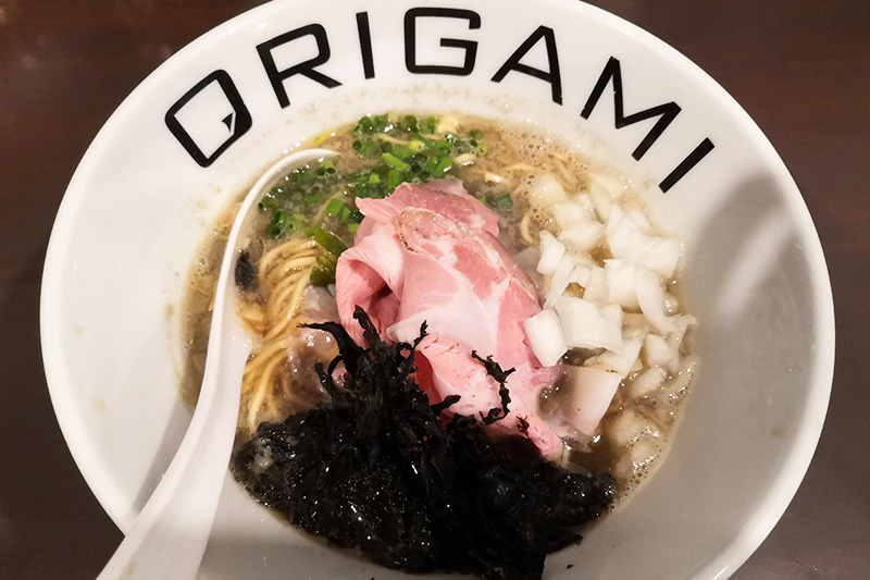 ORIGAMIの煮干しそば