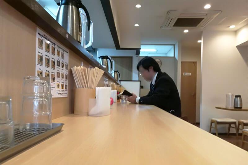 中浦和 麺処つむじ カウンター席