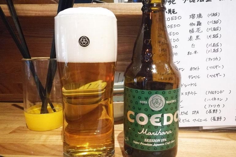 浦和 角打ち新井商店 COEDOビール鞠花