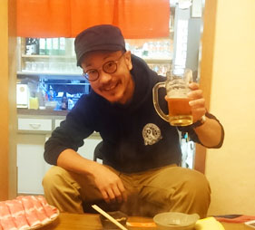 忽布古丹醸造 社長&醸造長の堤野さん