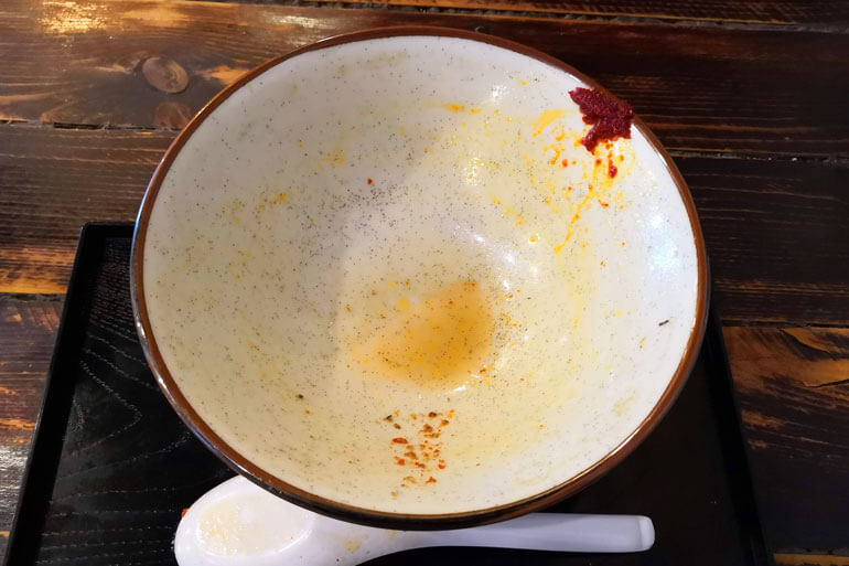浦和 仮麺中 完食