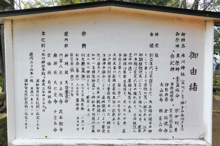 大谷場氷川神社 御由緒