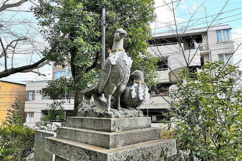 大谷場氷川神社 狛雉子
