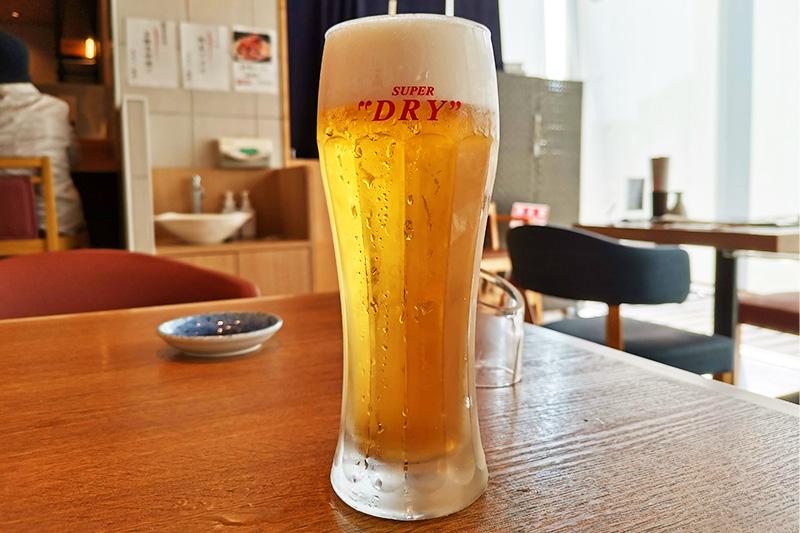 魚力の生ビール