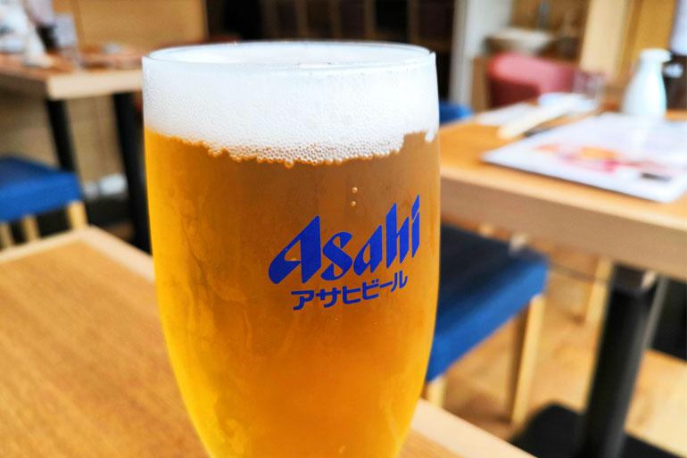 浦和アトレ築地魚力 ランチビール