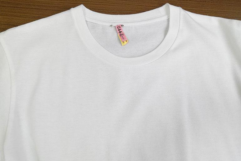 ホワイト急便 クリーニング・しみ抜き後のTシャツ