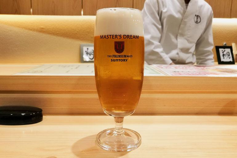 浦和 鮨 乃すけ 生ビール