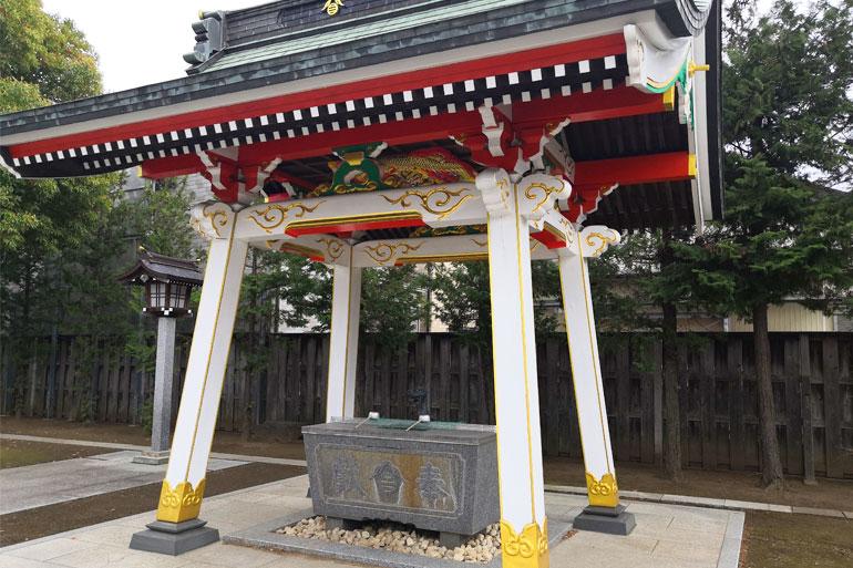 田島御嶽神社 手水舎