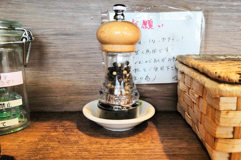 北浦和 麺家 Shumen Doushi(しゅめんどうし) 卓上調味料