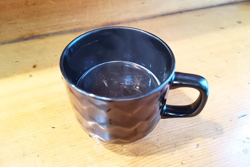 食後のホットコーヒー