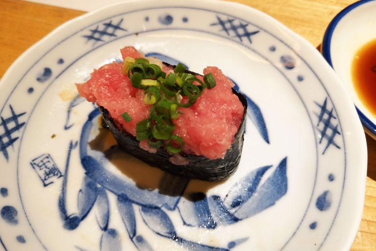 浦和パルコ すし波奈食べ放題 お寿司 ネギトロ