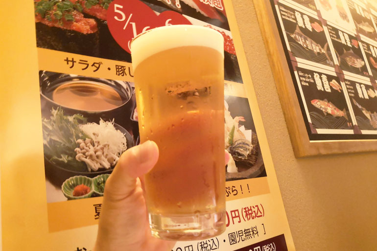 浦和パルコ すし波奈食べ放題 ビール