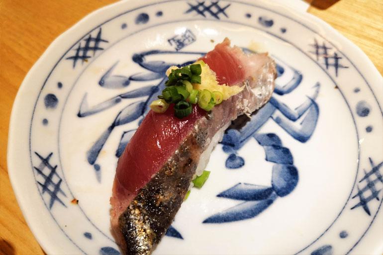 浦和パルコ すし波奈食べ放題 お寿司 アジ
