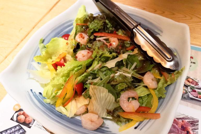 浦和パルコ すし波奈食べ放題 サラダ