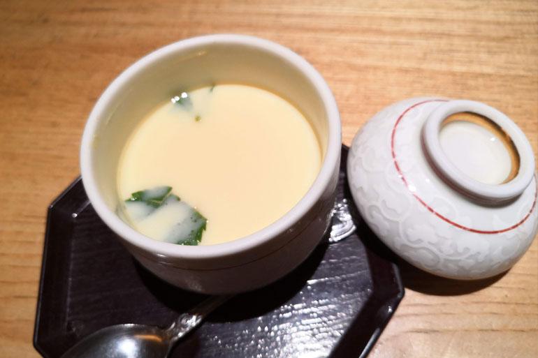 浦和パルコ すし波奈食べ放題 茶碗蒸し