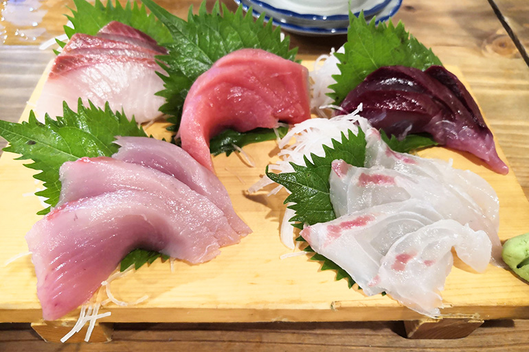 浦和 地魚屋台 豊丸 刺身5種盛り
