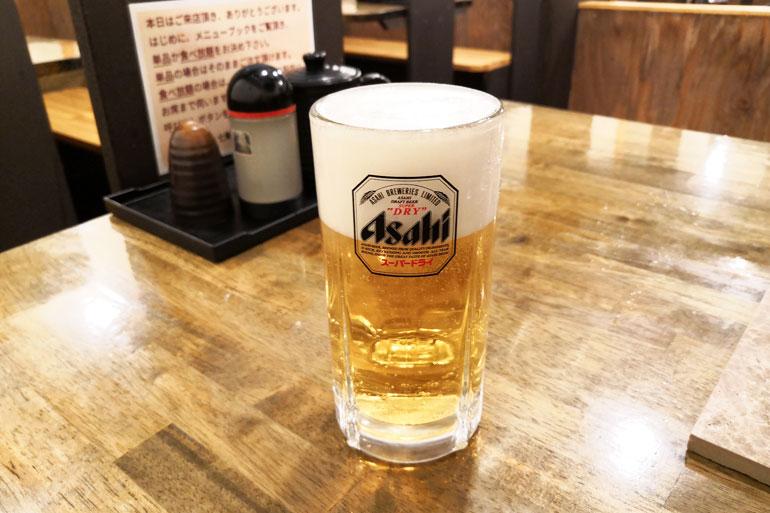 七輪焼肉 安安 浦和西口店 生ビール