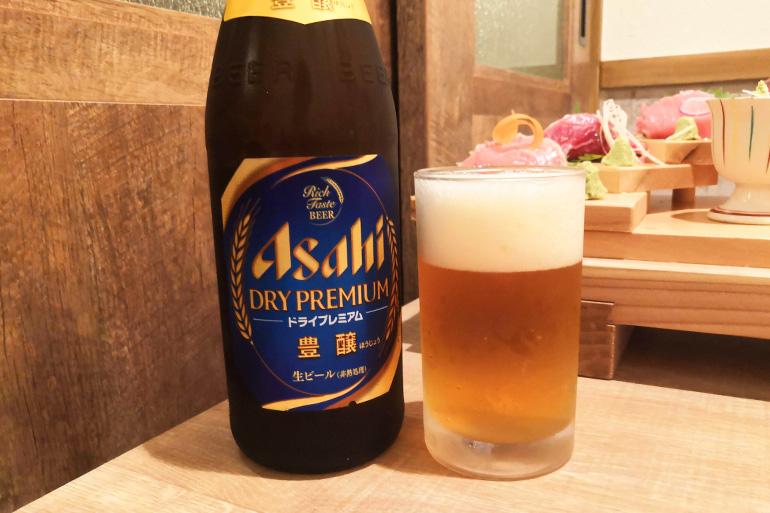 浦和 葵屋 ドライプレミアム瓶ビール