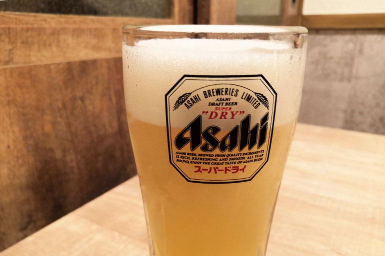 葵屋 浦和店 ランチビール