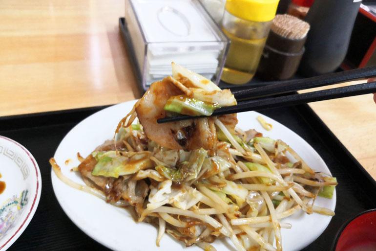 浦和 いこい食堂 肉とキャベツのみそイタメ定食