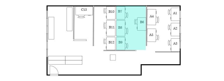 武蔵浦和 シェアオフィス「MyDeskSpace」 間取り図