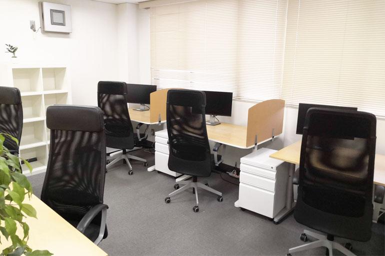 武蔵浦和 シェアオフィス「MyDeskSpace」オフィス内