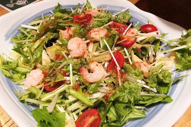 ズワイガニも食べ放題!浦和パルコ「すし波奈」の寿司食べ放題 サラダ
