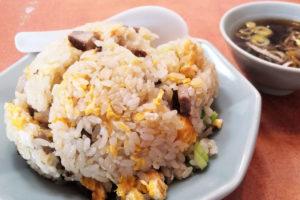 浦和区岸町の街中華「華月」のチャーシューがたっぷり入った炒飯がウマい