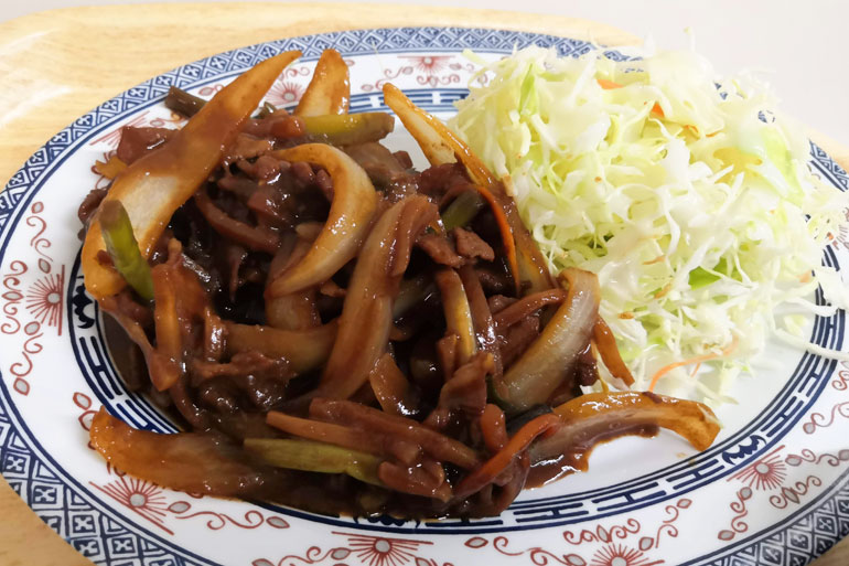 埼玉県庁 職員食堂 A定食:豚肉の辛味噌炒