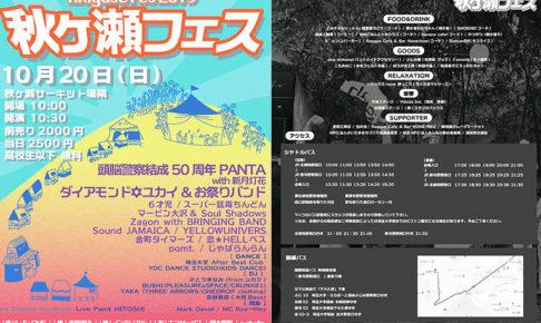 台風被害を乗り越え、ロックの聖地に「秋ヶ瀬フェス2020」が10月に開催!