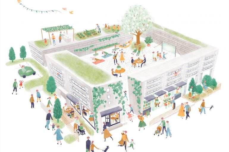 北浦和の賃貸住宅「コミューンときわ」で外覧会と内覧会を実施