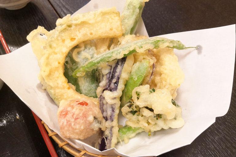 季節の野菜天ぷら盛り合わせ