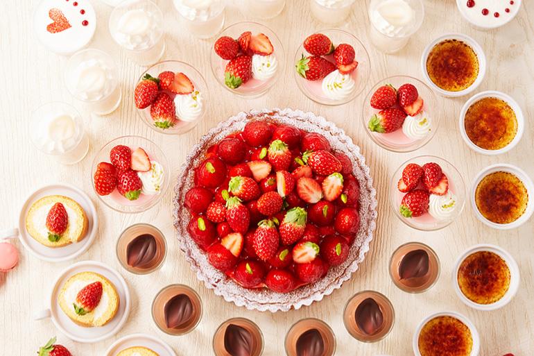 ロイヤルパインズホテル浦和 ペストリーショップ「ラ・モーラ」旬のいちごとチョコレートスイーツを楽しむ いちご&チョコレートデザートビュッフェ