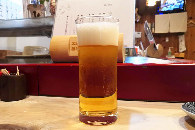 冨士寿司ランチビール