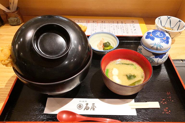 料理処 石屋 穴子天丼ランチ