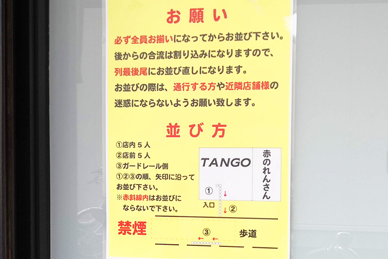 tango 行列の並び方