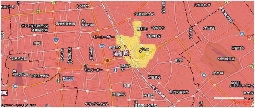 浦和駅周辺は2020年夏頃から提供開始