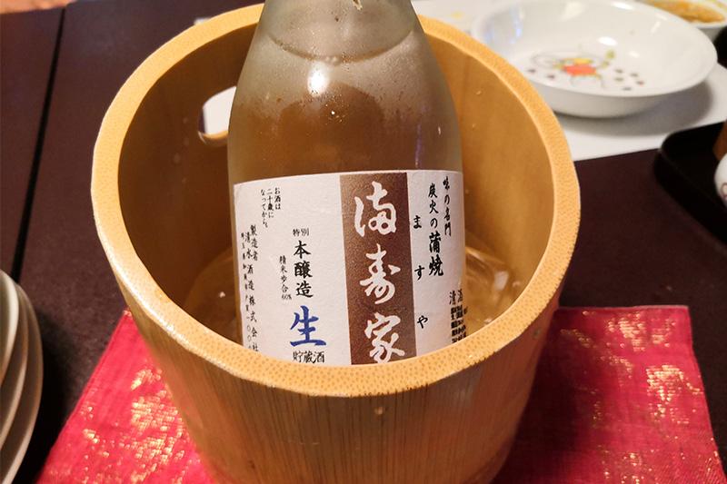 冷酒 満寿家ボトル