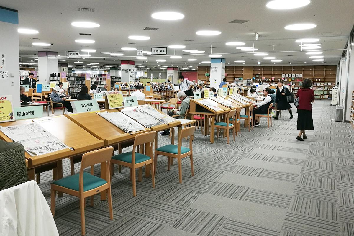 パルコ上「さいたま市立図書館」感染対策のため座席の利用は80分制