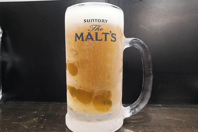 キンキンに冷えて二杯目の生ビール