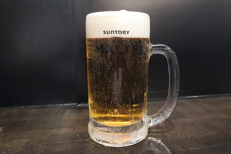 三杯目も生ビール