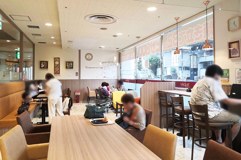 店内のカフェ(イートイン)スペース
