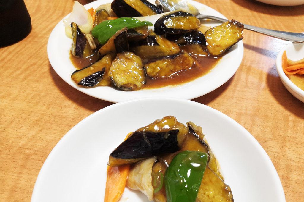 中国料理 蘭軒のなすと豚肉の炒め