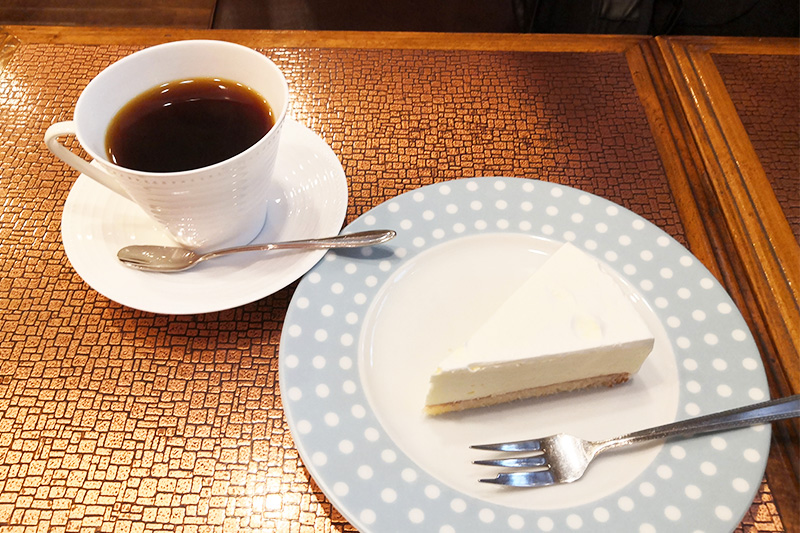 チーズケーキ、コーヒーセット
