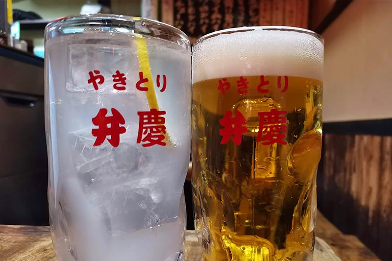ビールとレモンサワー