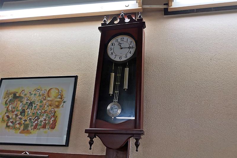 ぎんねこ店内にある時計