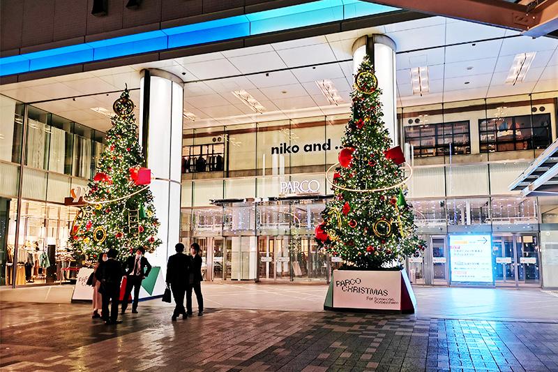 浦和パルコ前のクリスマスツリー