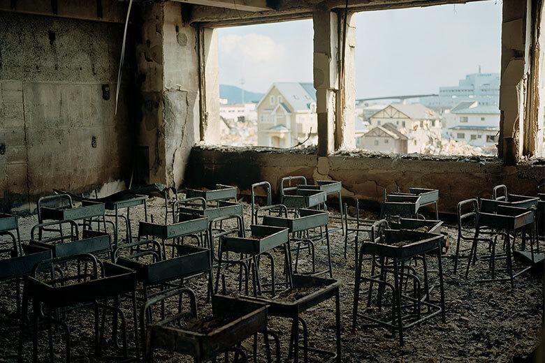 さくら草通りのシプレ ド・ オールで檜佐文野写真展「東北の学校〜あの日をつなぐ〜」開催